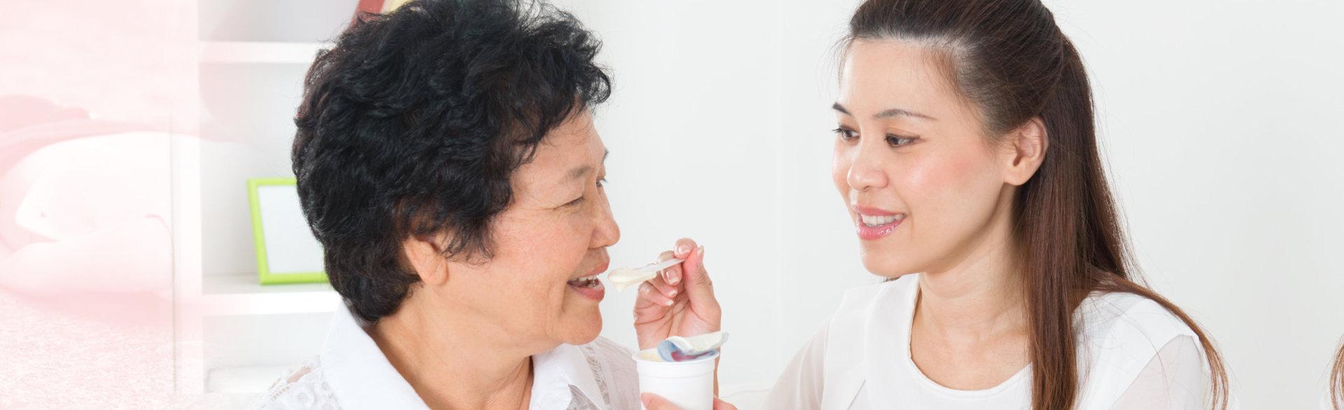 grandma taking her medicine